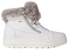 Geox Dámske členkové topánky Kaul B Abx D White / Dk Grey D84AWD-046BH-C0672