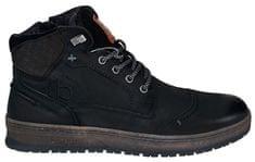 BUGATTI Pánske kožené členkové topánky 321334373000-1000 Black