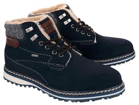 Pánske kožené členkové topánky 321607501400-4100 Dark Blue (Veľkosť 41) 20be447397
