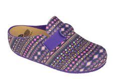 Scholl Dámske šľapky Lareth Bioprint Purple/Multi F272821280