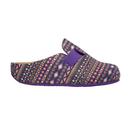 ca20f34b8ba Dámské pantofle Lareth Bioprint Purple Multi F272821280 (Velikost 36)