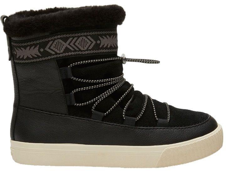 9ee0e79ea0 Toms Dámské sněhule Black Leather Suede Faux Fur (Velikost 38)