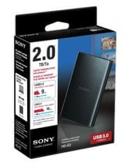 Externý 2TB HDD Sony HD-E2 (čierny)
