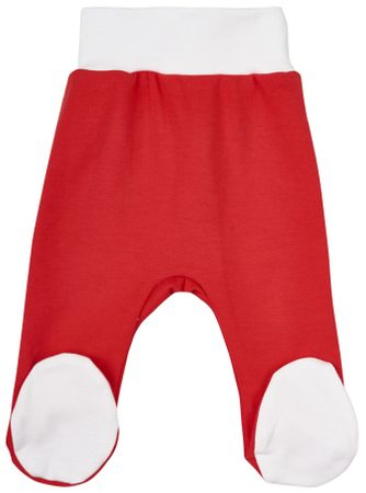 Garnamama otroške hlače Christmas, 56, bele/rdeče