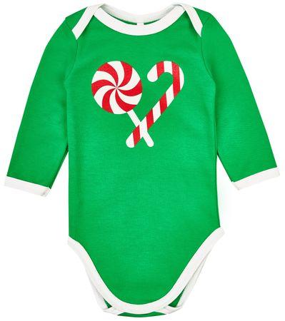 Garnamama body świąteczne Christmas 56 zielone