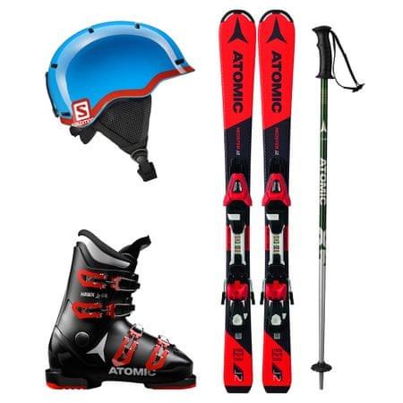 Atomic Půjčení lyžařského setu (lyže 90 cm, boty 22.5, hůlky 75 cm, helma)