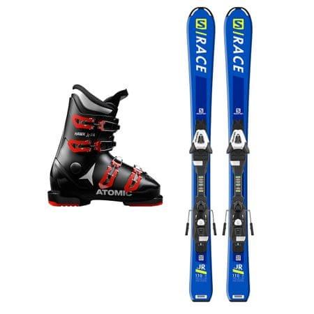 Salomon Půjčení lyžařského setu (lyže 140 cm, boty 21.5, bez hůlek, bez helmy)