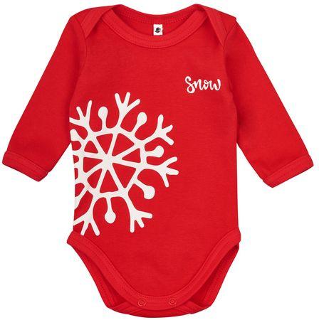 Garnamama gyermek body Christmas 62 piros
