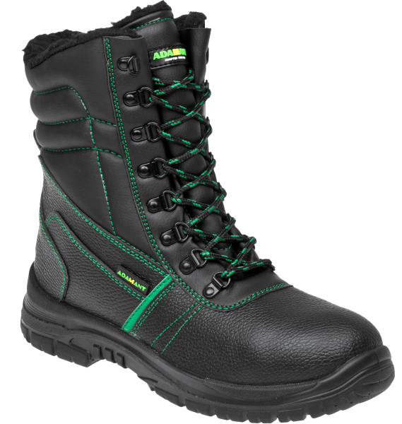 Adamant Zimní vysoká pracovní obuv Classic O2 černá 45