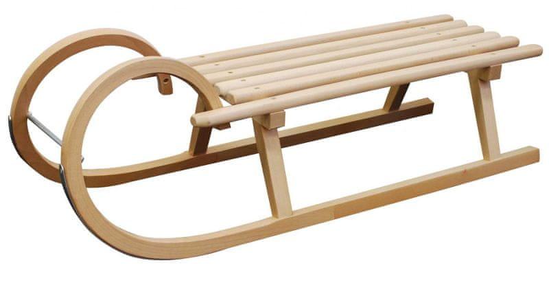 Sulov Dřevěné saně SPORT, sedák dřevo, 105cm