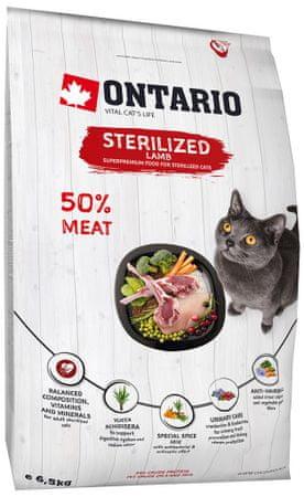Ontario Cat Sterilised Lamb 5kg