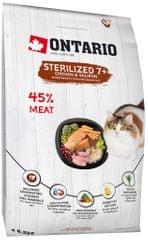 Ontario Cat Sterilised 7+ 5kg