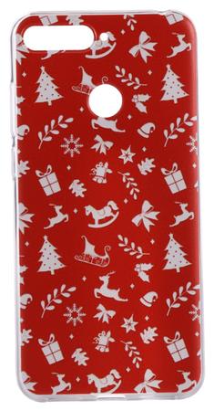 EPICO Rugalmas műanyag tok Huawei Y6 Prime (2018) mobiltelefonra RED XMAS