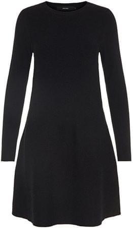 Vero Moda Női ruhaNancy Ls Knit Dress Noos Black (méret XS)