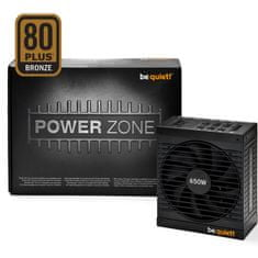Be quiet! modularni napajalnik ATX Power Zone, 80Plus Bronze, 650 W CM