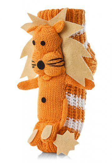 Attractive dětské ponožky se lvem 27 - 30 oranžová