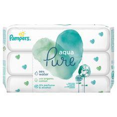 Pampers 3x Aqua Pure vlhčené ubrousky - 48 ks