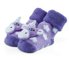 Attractive dívčí ponožky s jednorožcem