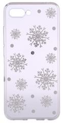 EPICO Pružný plastový kryt pro Honor 10 WHITE SNOWFLAKES