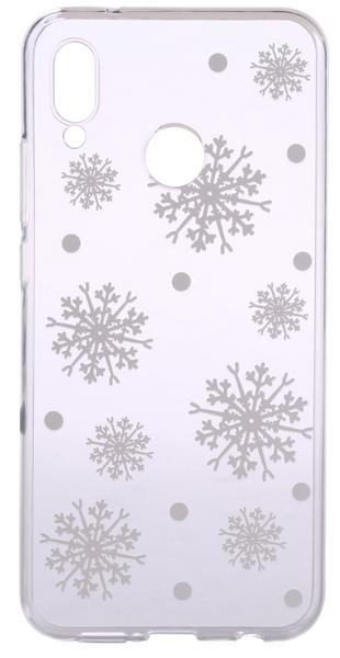 EPICO Pružný plastový kryt pro Huawei Nova 3 WHITE SNOWFLAKES