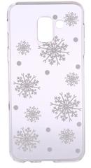 EPICO Pružný plastový kryt pro Samsung Galaxy J6 (2018) WHITE SNOWFLAKES