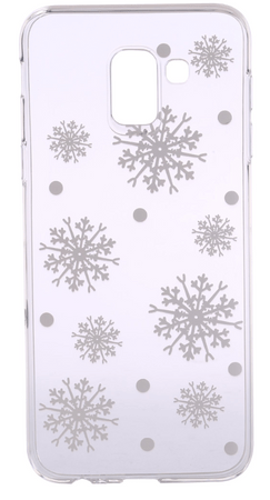 EPICO Rugalmas műanyag tok Samsung Galaxy J6 (2018) telefonra WHITE SNOWFLAKES