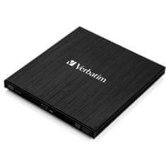 Verbatim zunanji zapisovalnik External Slimline, USB 3.0, Blu-Ray, črn