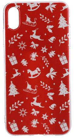 EPICO Rugalmas műanyag tok iPhone XS Max-ra RED RUDOLF