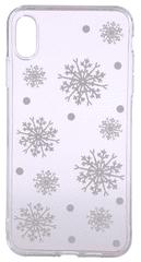 EPICO Pružný plastový kryt pro iPhone XS Max WHITE SNOWFLAKES