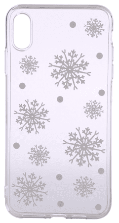 EPICO Rugalmas műanyag tok iPhone XS Max-ra WHITE SNOWFLAKES