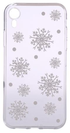 EPICO Rugalmas műanyag tok iPhone XR-re WHITE SNOWFLAKES