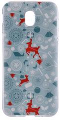 EPICO Pružný plastový kryt pro Samsung Galaxy J5 (2017) GREEN XMAS