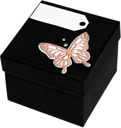 Luksusowy pudełko z brązową muszką