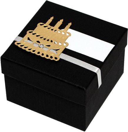 Luksusowy pudełko ze złotą tartą
