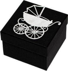 Luxus ajándékdoboz ezüst színű kocsival díszítve