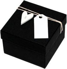 Luxusní dárková krabička s dřevěným srdíčkem