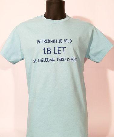 Gildan vezena majica Potrebnih 18, M, svetlo modra