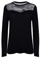 ONLY Dámske tričko Kirsty LS Mix Top Box Jrs Black Lace