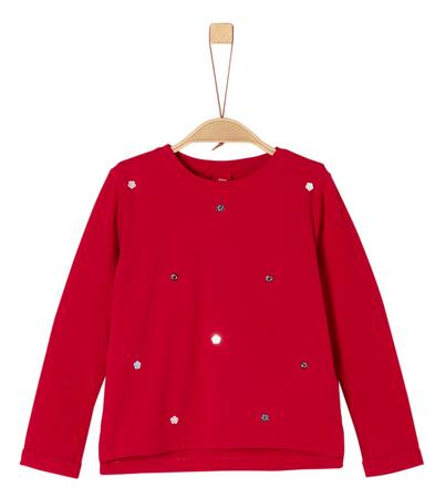 s.Oliver dívčí tričko 92 - 98 červená