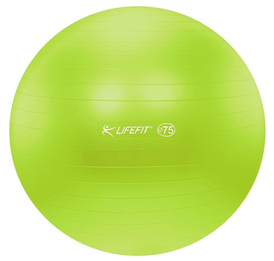 LIFEFIT Gymnastický míč ANTI-BURST 75 cm zelený