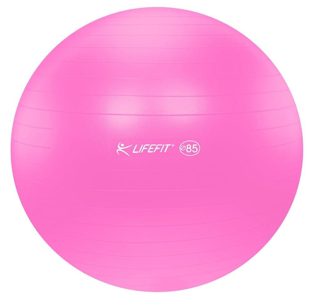 LIFEFIT Gymnastický míč ANTI-BURST 85 cm růžový