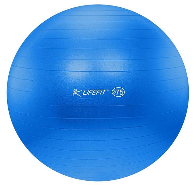 LIFEFIT Gymnastický míč PEARL 75 cm modrý