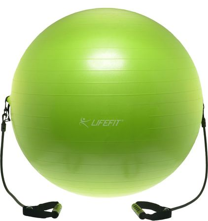 LIFEFIT piłka gimnastyczna z ekspanderem GYMBALL EXPAND, 55 cm, zielona, 65