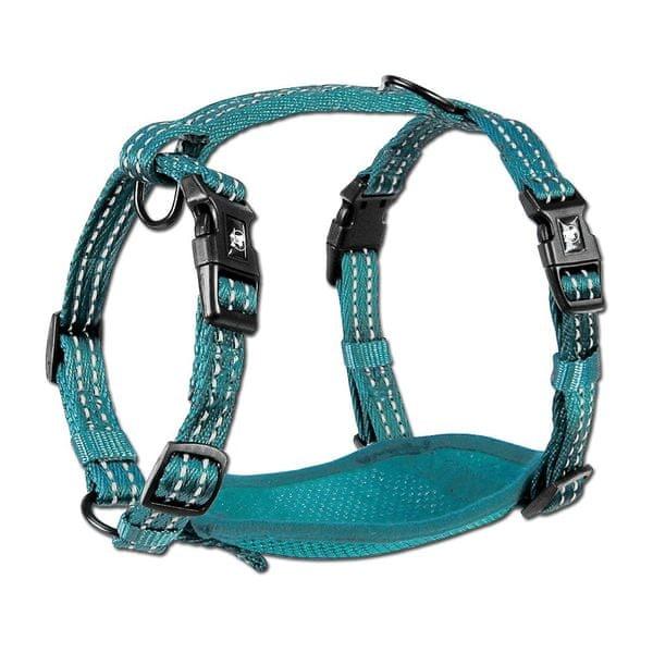 Alcott Reflexní postroj pro psy, modrá S