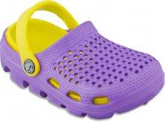 Coqui Dziecięce kapcie Bugs 6101 Lila / żółty 100175