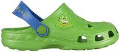 Coqui Detské šľapky Little Frog 8701 Lime/Royal 100319