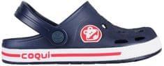 Coqui Kapcie dziecięce Froggy Navy / White 8801-100-2132