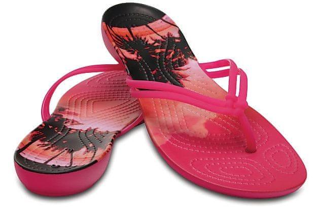 Crocs Dámské žabky Crocs Isabella Graphic Flip Candy Pink Tropical  204196-6JS (Velikost 0d87810c6e
