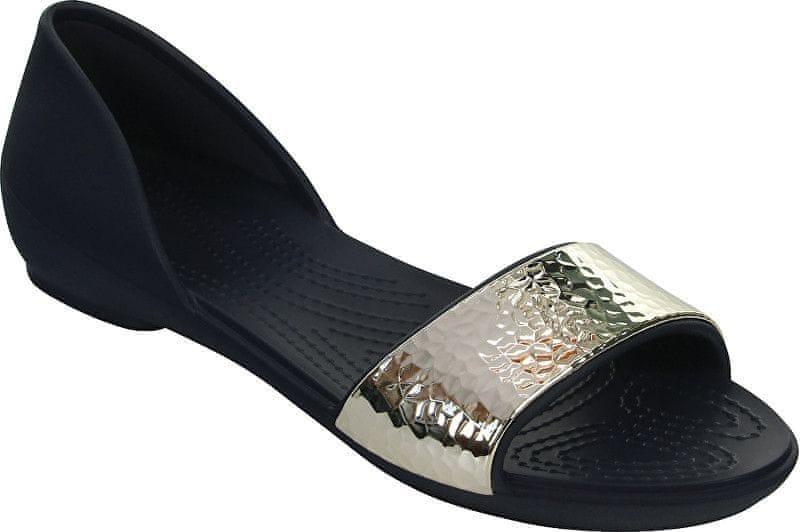 Crocs Dámské baleríny Crocs Lina Embellished Dorsay Navy Silver 204361-488 ( Velikost 36 604013d2f4