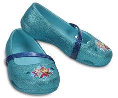 Crocs Dětské baleríny Crocs Lina Frozen Flat Ice Blue 204454-4O9 646703022c